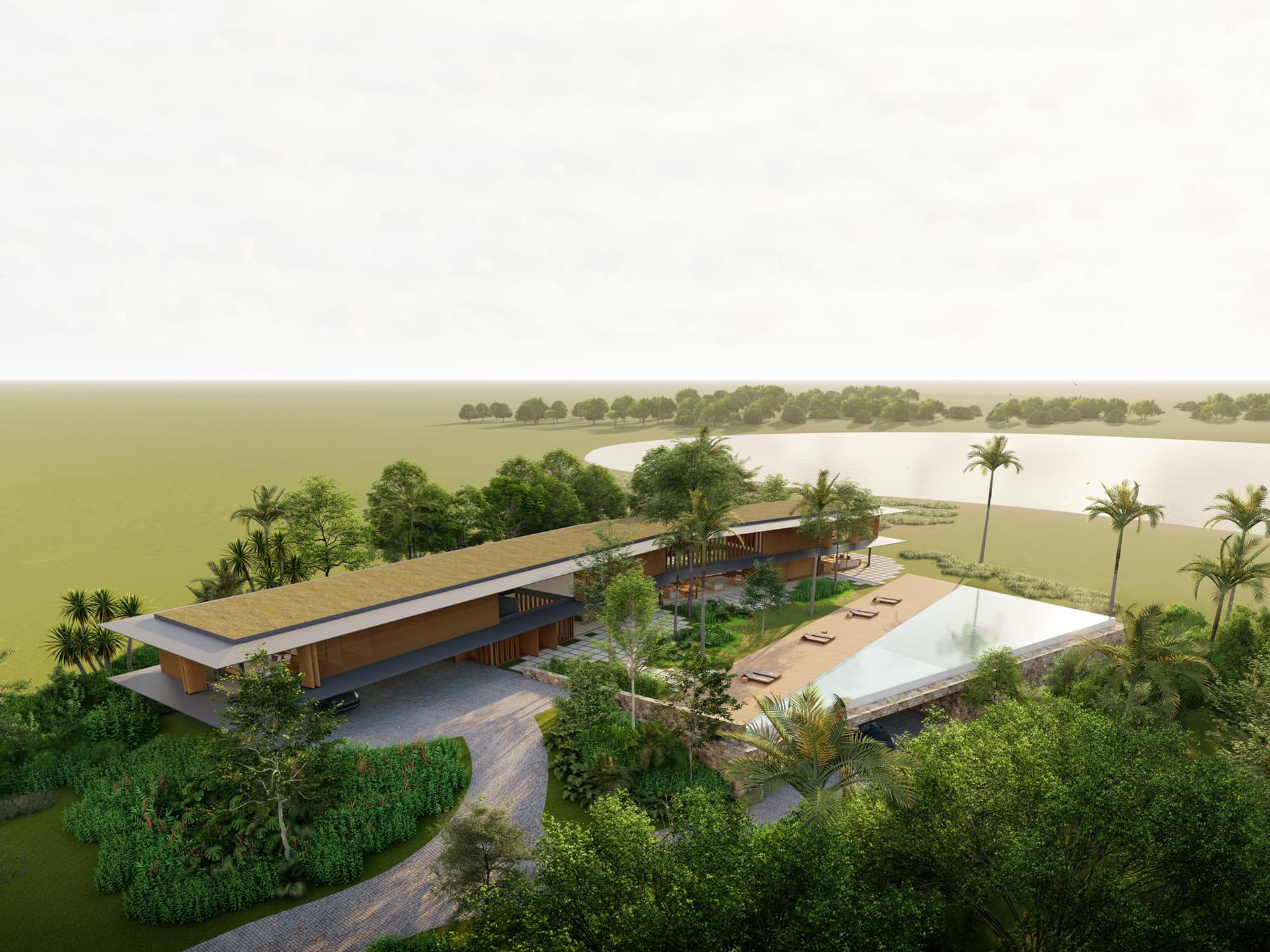 Vista aérea Casa Boomerang