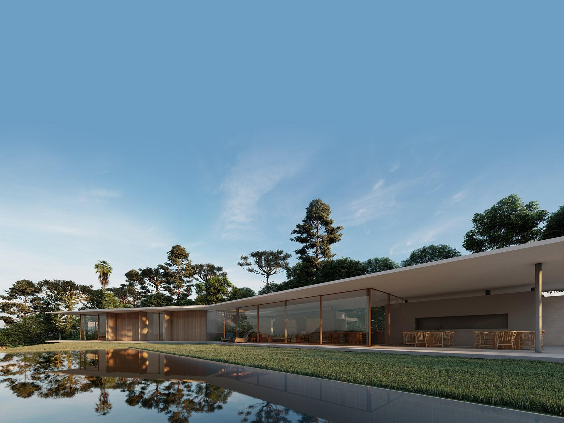 Casa Asa Delta Sabella Arquitetura - vista piscina