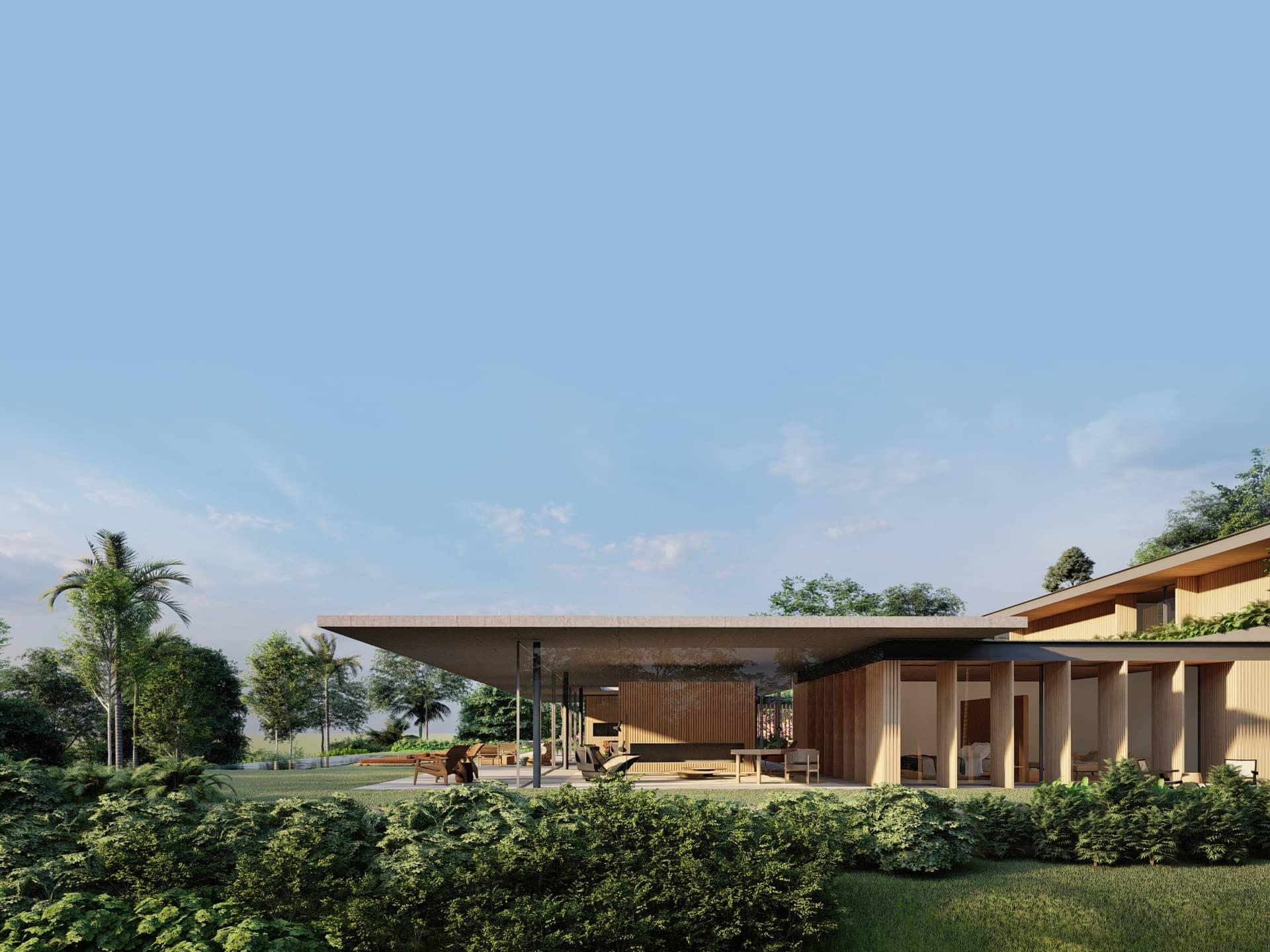 Casa Pateo - Quinta da Baroneza - Sabella Arquitetura - Vista lateral