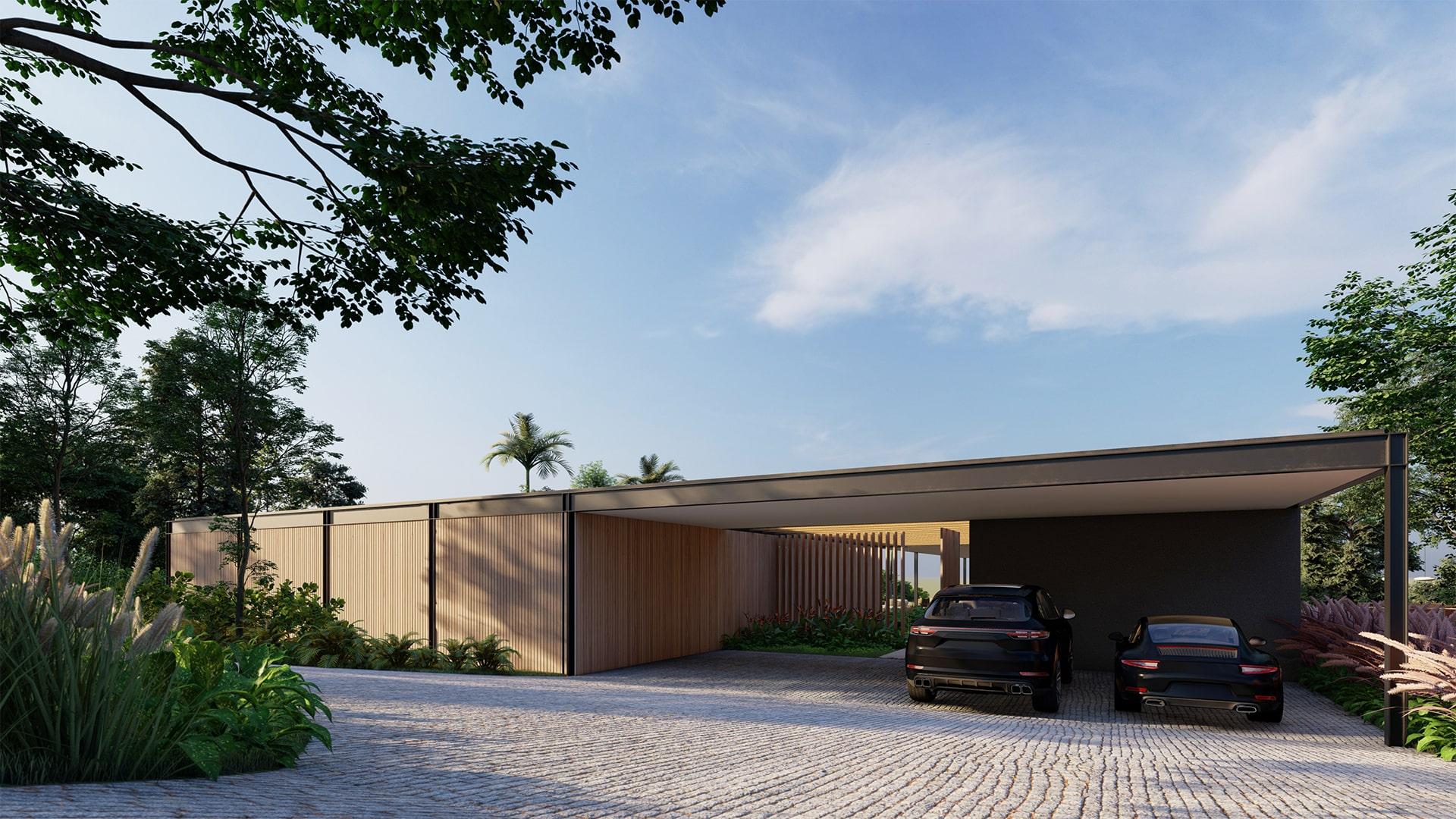 Casa Quero 11 - Vista Garagem