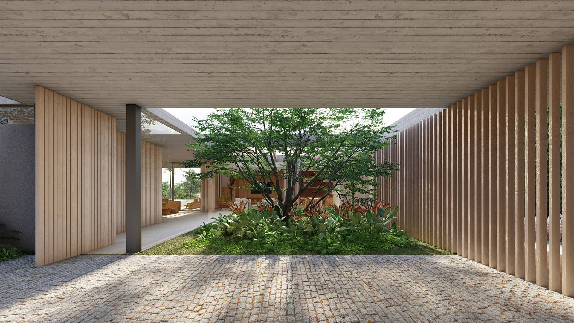 Sabella Arquitetura - Casa Concreto vista interna