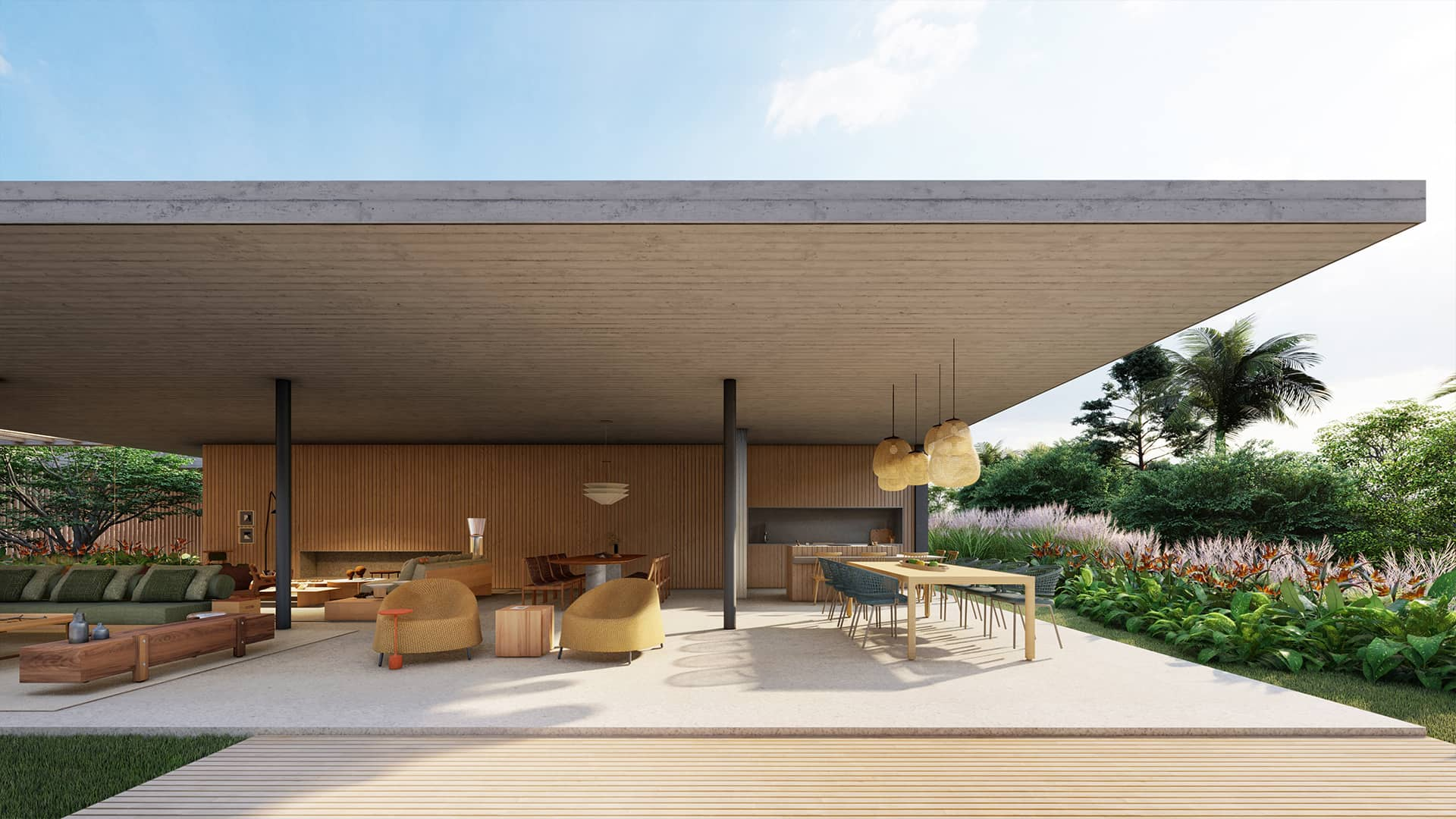Sabella Arquitetura - Casa Concreto vista gourmet